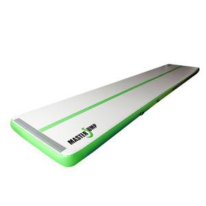 Airtrack MASTERJUMP nafukovací žíněnka 800 x 150 x 20 cm - šedá - zelená
