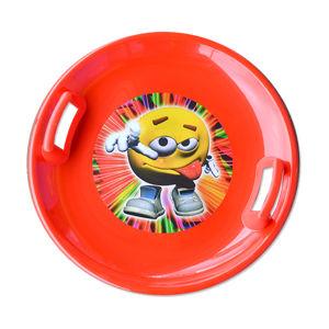 Sáňkovací talíř Super Star - červený