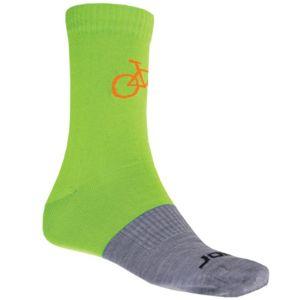 Ponožky SENSOR Merino Wool Tour zeleno-šedé